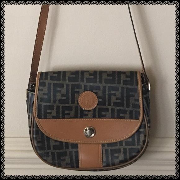0cee14d67a54 Fendi Handbags - 1925 Vintage Fendi FF Logo Crossbody Shoulder Bag